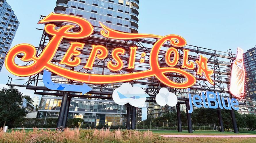 pepsi cola sign long island city bottling factory new york city icon landmark