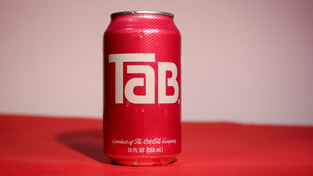 a can of Tab