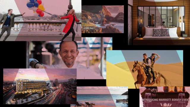 a collage of content from Marriott