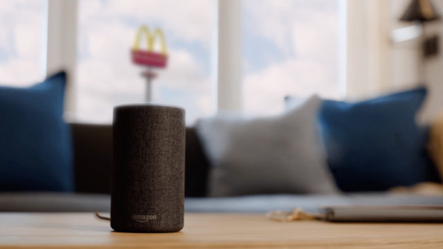 mcdonald's voice assistant amazon alexa goole smart speakers