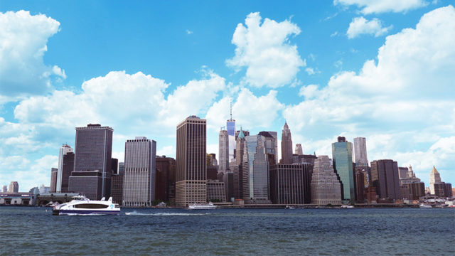 a shot of new york