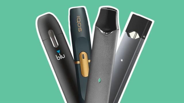 four e-cigarette pens