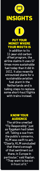 sidebar of insights about KLM