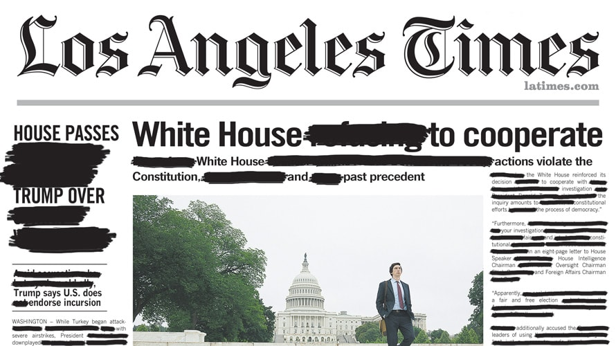 Front page newspaper from Amazon Studios