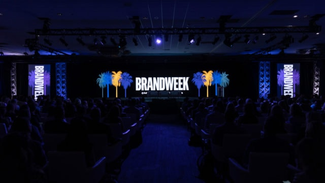 Wide shot of the Brandweek stage in Palm Springs California