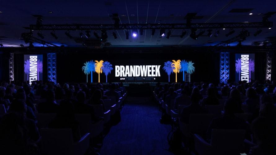 Wide shot of the Brandweek stage in Palm Springs California