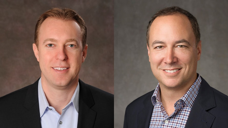 Headshot of Marc DeBevoise and Jim Lanzone