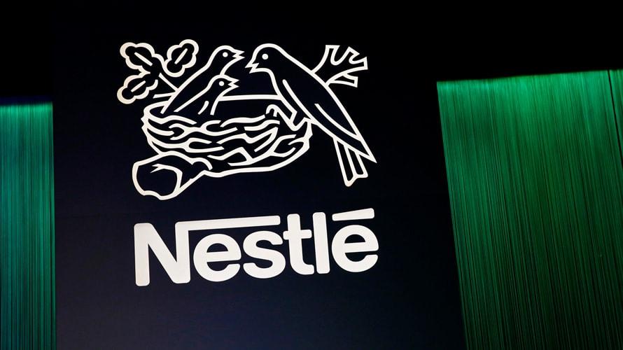 Nestle white logo on black