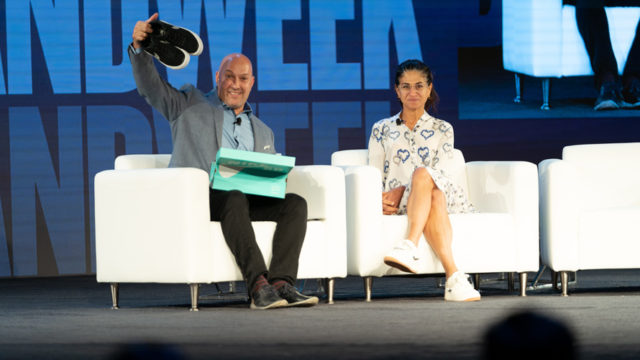 Jeff Litvack and Deena Bahri at Brandweek