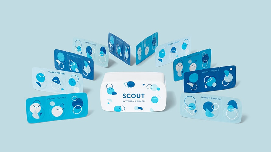 Boxes of Scout contact lenses