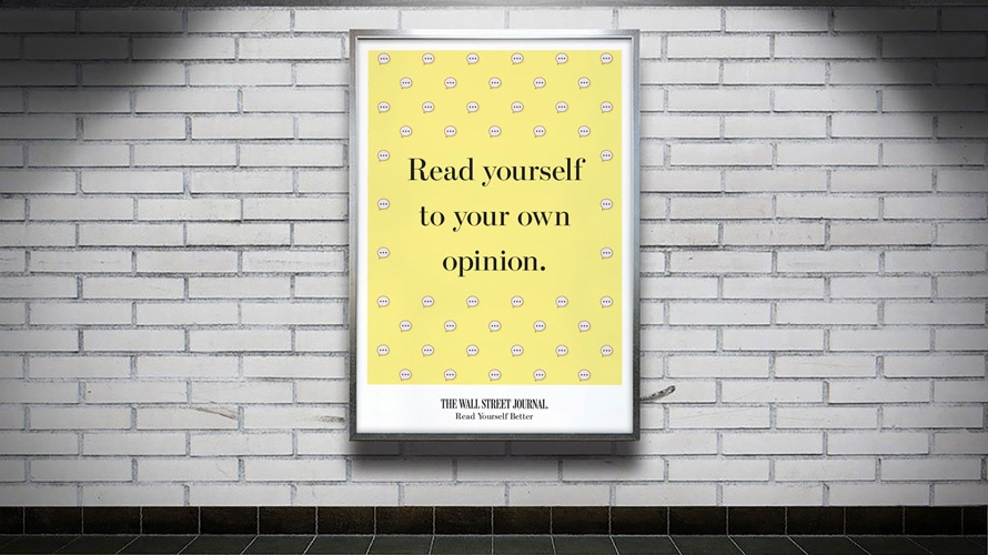 "a billboard that reads ""read yourself to your own opinions"""