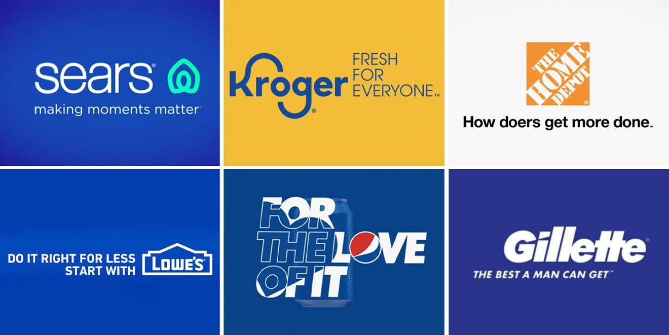 Some brands overhauled slogans; others kept taglines largely in tact.
