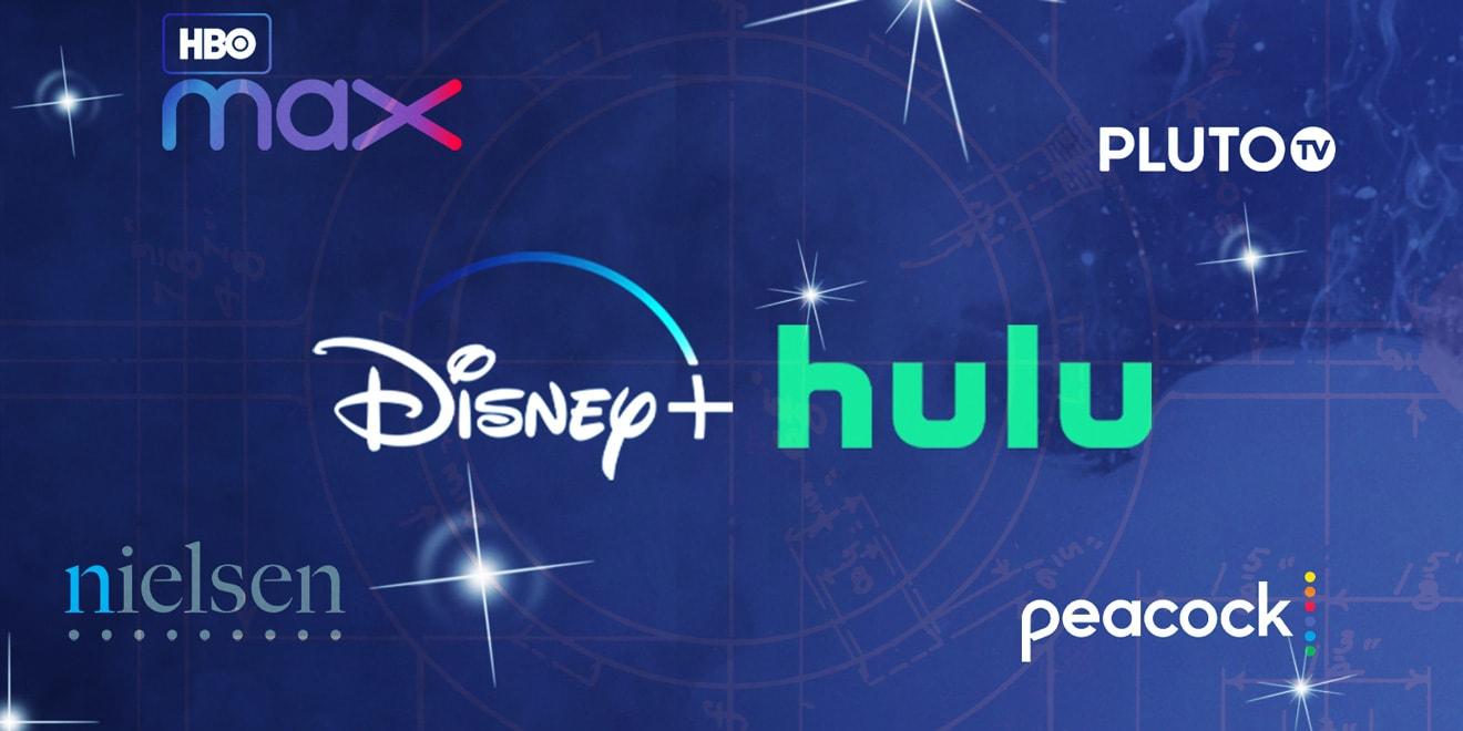 TV logos on a blueprint
