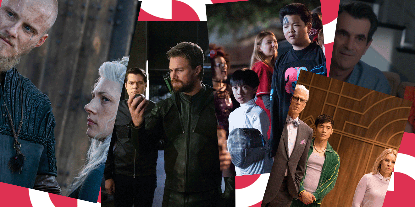 Vikings, Arrow, Fresh Off The Boat, The Good Place, Modern Family