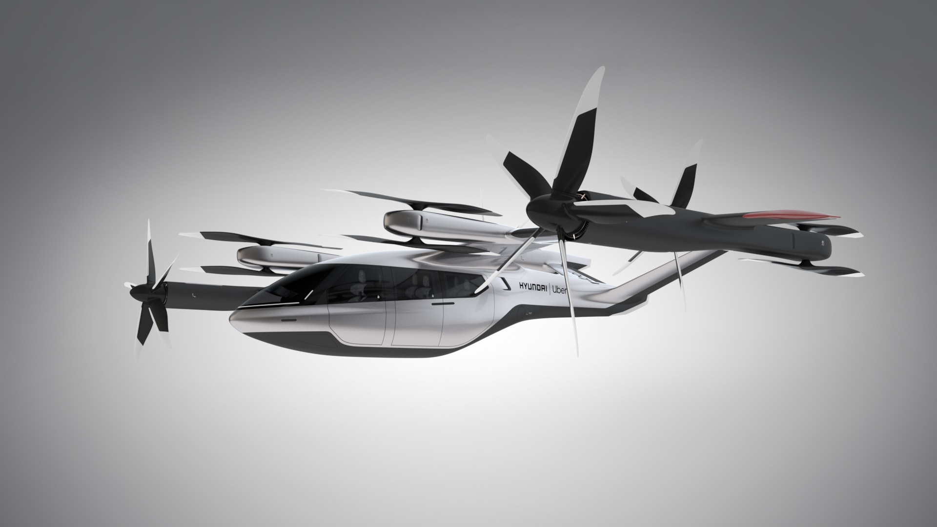the prototype uber air taxi vehicle