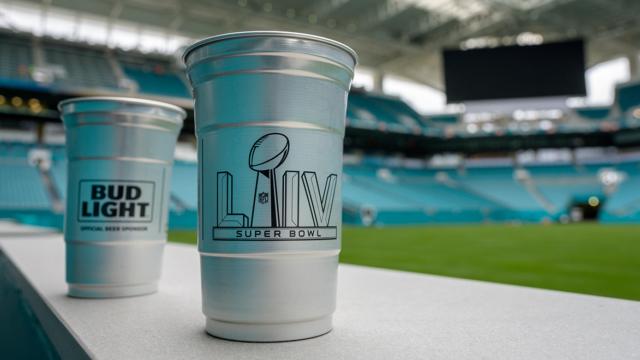 aluminum cups for super bowl 2020