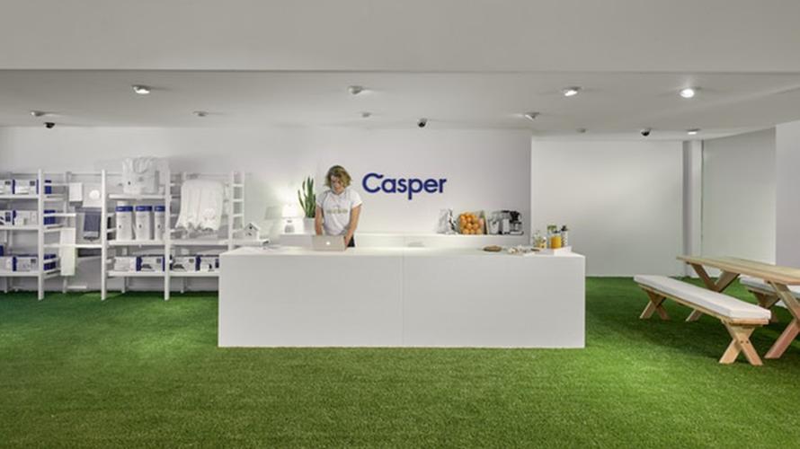 a casper mattress showroom