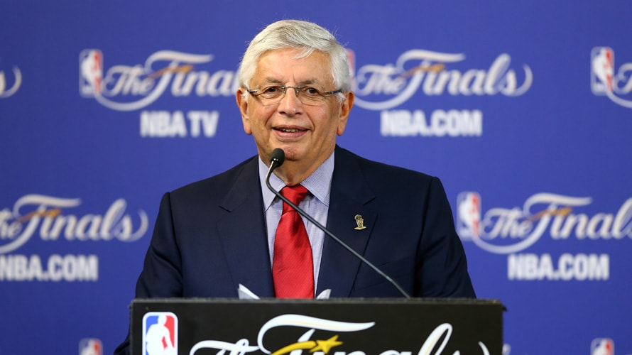 David Stern speaking at NBA finals conference