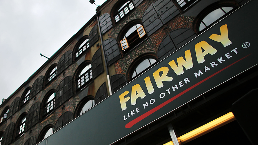 the frontage of a fairway market
