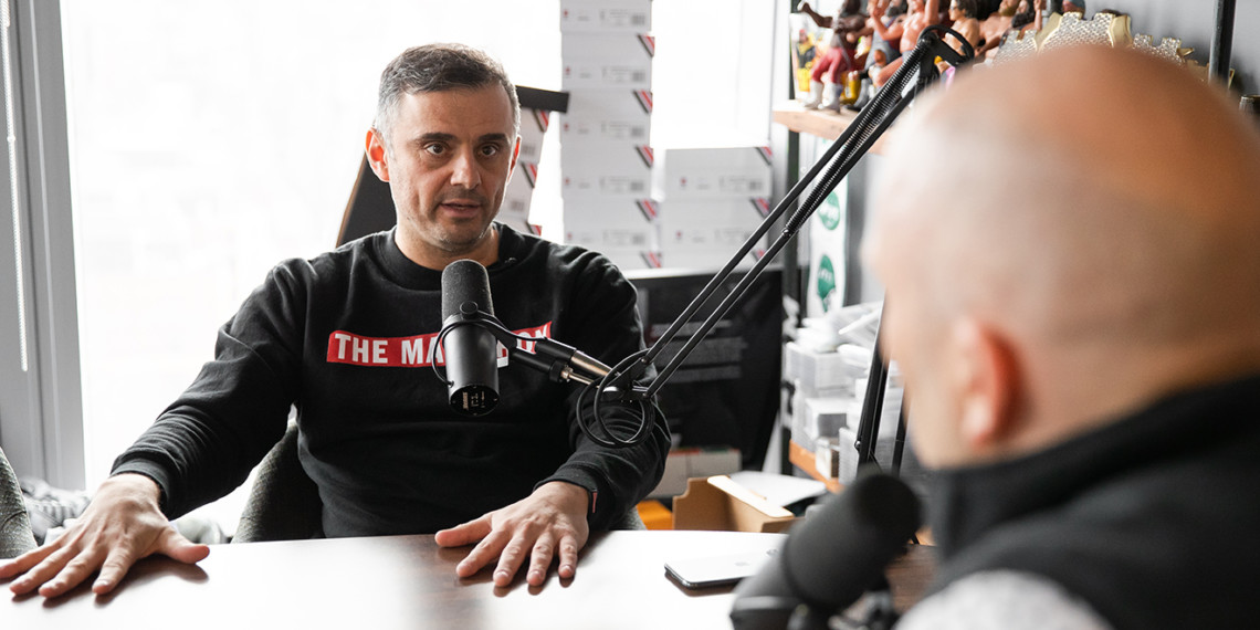 Gary Vaynerchuk talking into a microphone