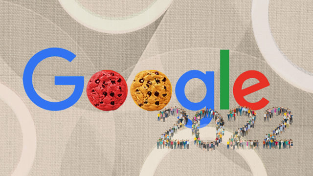 Google with cookies in place of the letter O