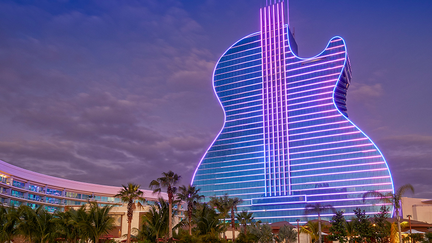 guitar hotel at the hard rock resort in florida