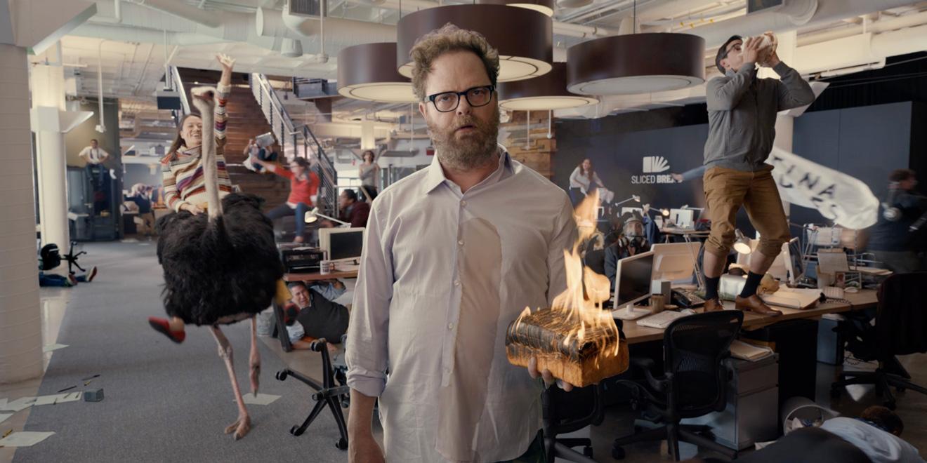 Rainn Wilson in Little Caesars Super Bowl commercial