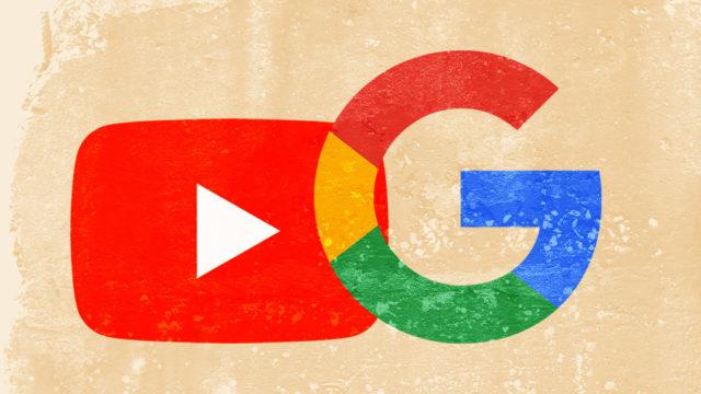 YouTube and Google logos