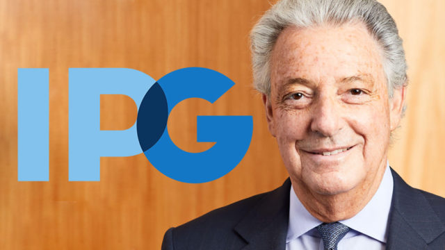 The IPG logo next to a photo of CEO Michael Roth