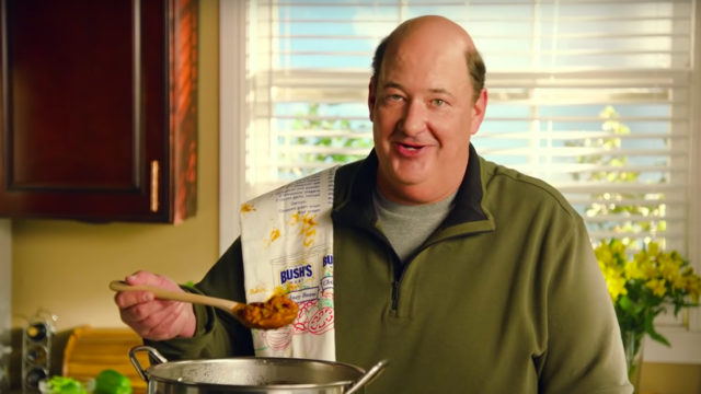 Actor Brian Baumgartner from The Office cooks a pot of chili