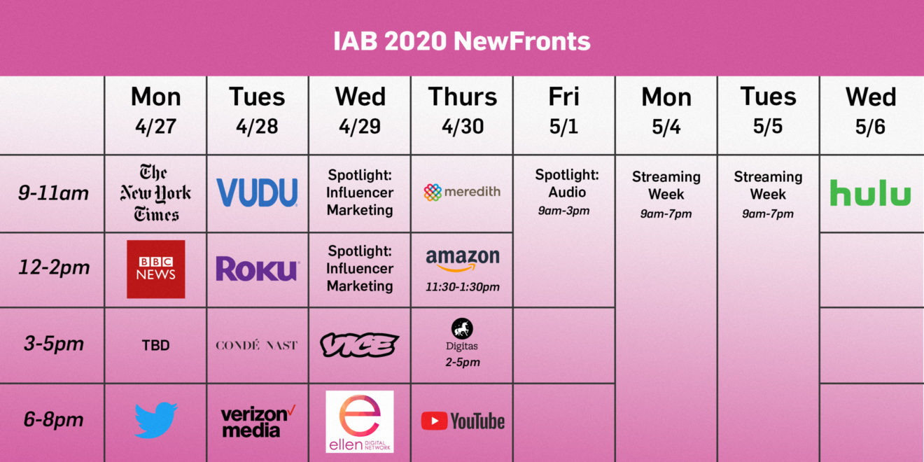 2020 newfronts lineup