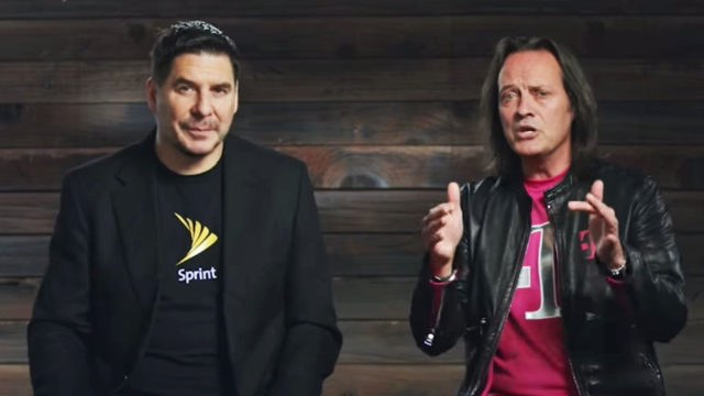 Sprint executive chairman Marcelo Claure and T-Mobile CEO John Legere