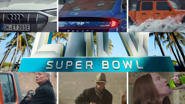 collage of super bowl ads