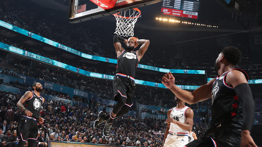 A still from an NBA All-Star Game