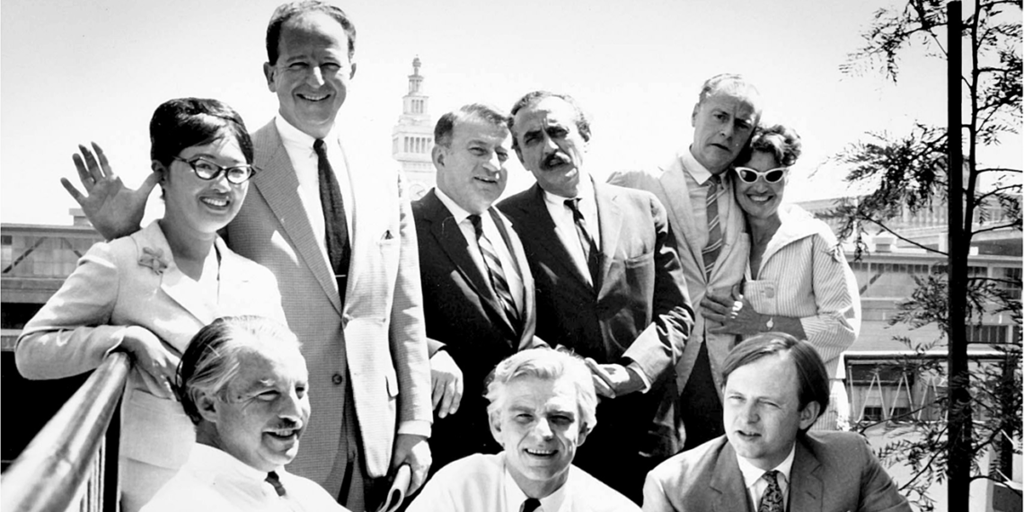 Alice Lowe (back row, left) was a major influence on Howard Gossage (front row, middle).