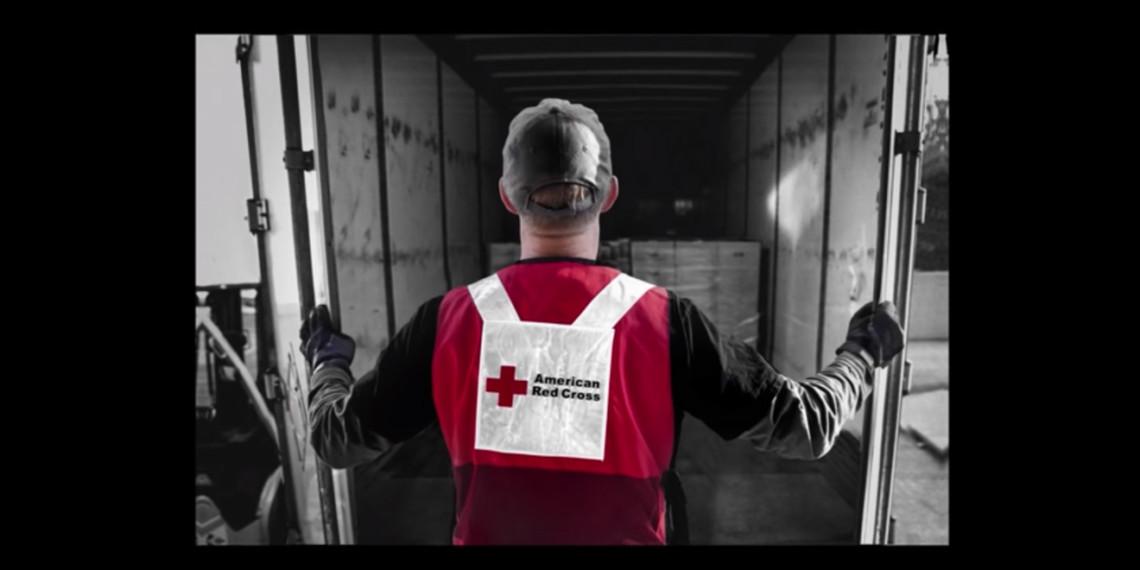 a red cross worker