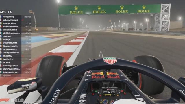 an esports lap of the bahrain grand prix