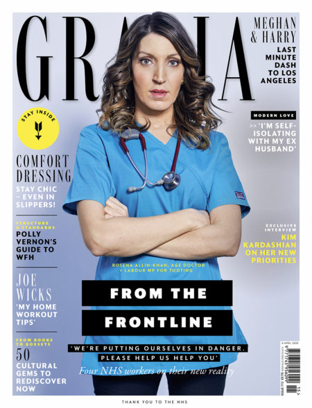 A healthcare worker on the cover of Grazia