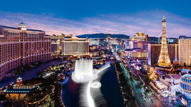 A view of Las Vegas