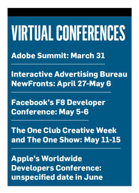 "A sidebar titled ""Virtual Conferences"""