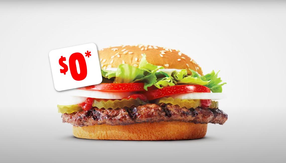 A Whopper burger
