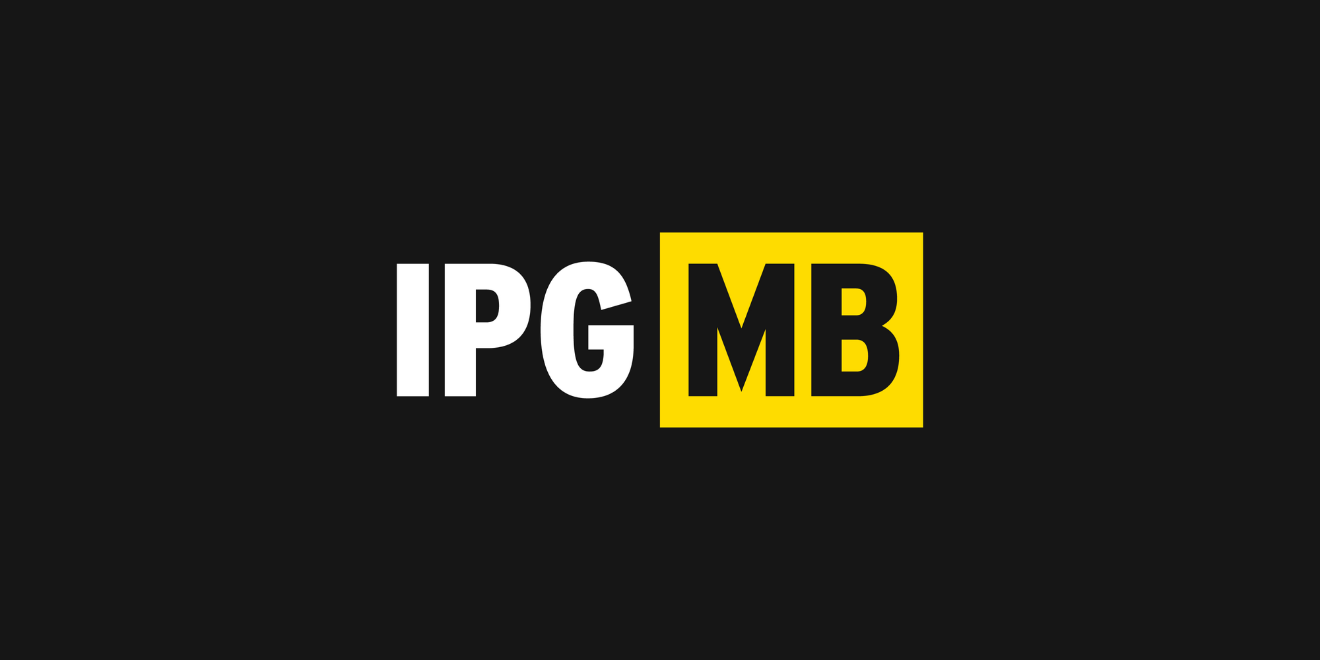 The IPG Mediabrands logo against a black background