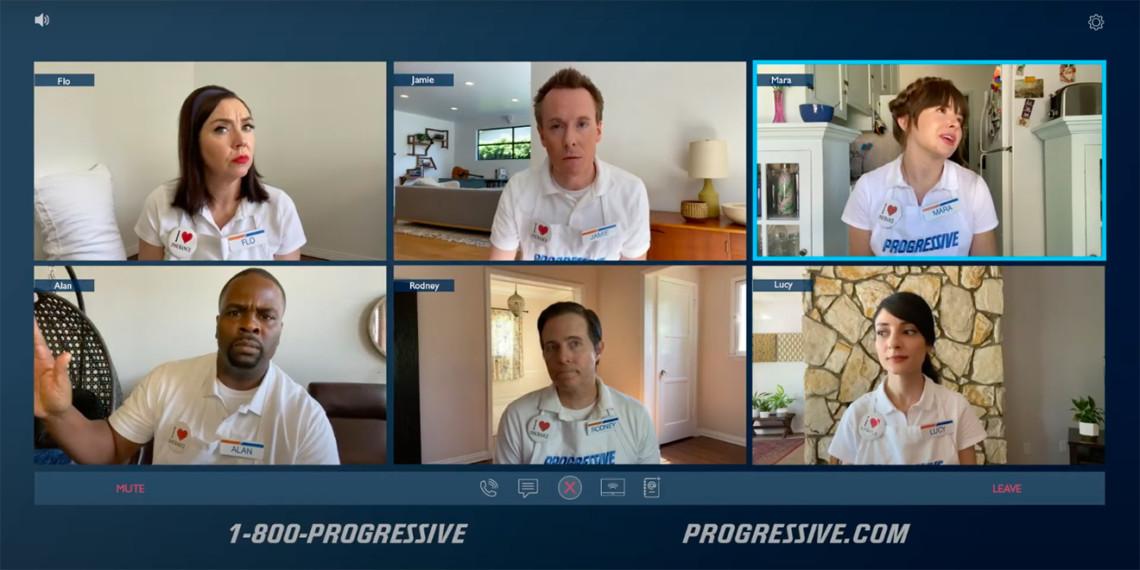 Screenshot of a Progressive Zoom call ad