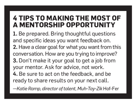 Sidebar that says, '4 Tips to Making the Most of a Mentorship Opportunity'