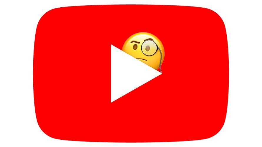 youtube logo with a skeptical emoji