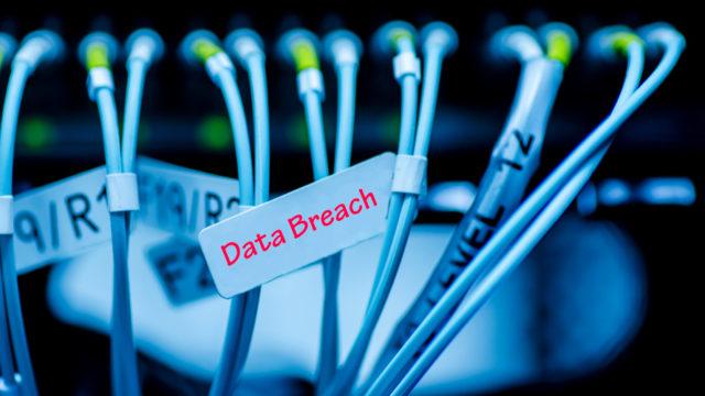 tag saying data breach