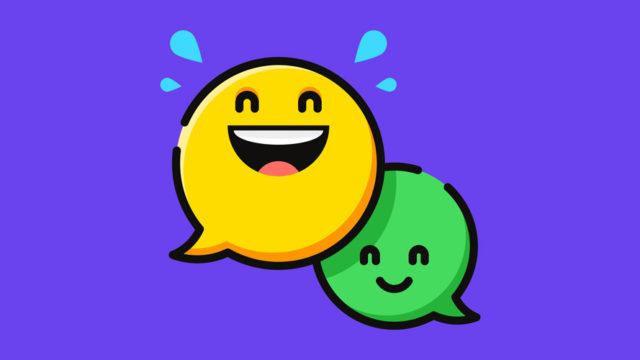 smiling chat bubbles