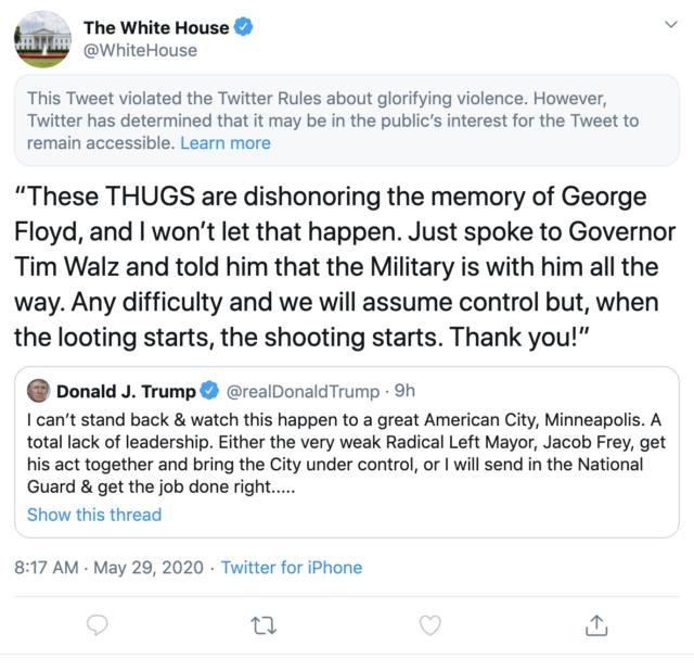 white house thugs tweet