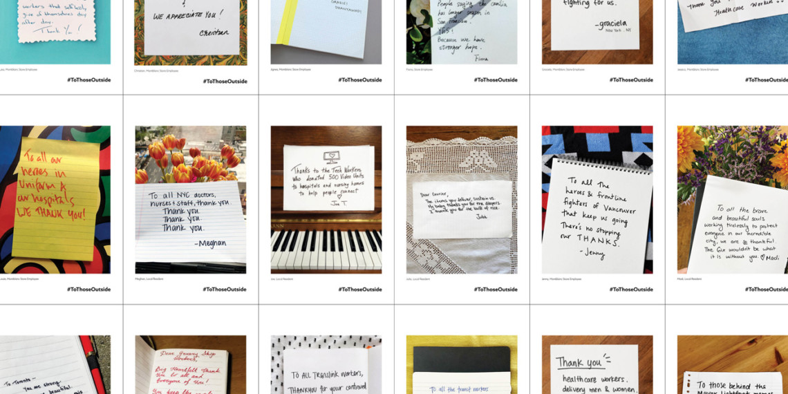 A collage of handwritten notes