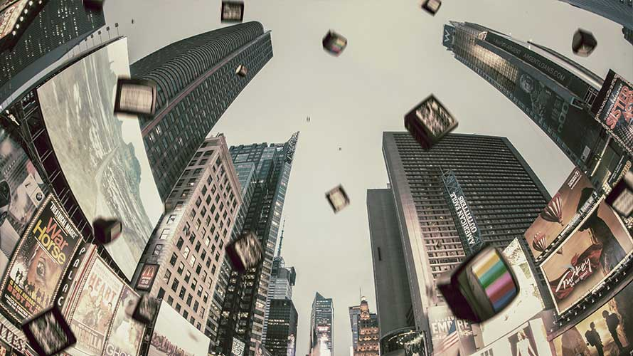tvs flying through times square